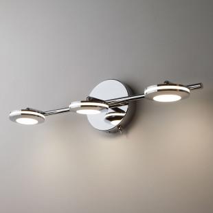 Светодиодный настенный светильник с поворотными плафонами 20002/3 хром
