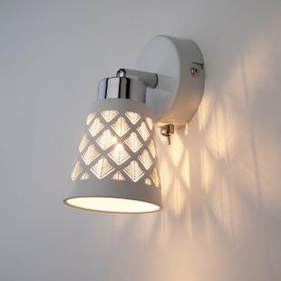 Настенный светильник с поворотными плафонами 20060/1 белый