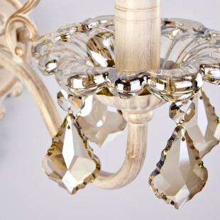 Бра с тонированным хрусталем 3281/1 белый с золотом / тонированный хрусталь