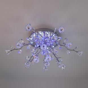 Люстра потолочная со светодиодной подсветкой и с пультом ДУ 80115/15 хром