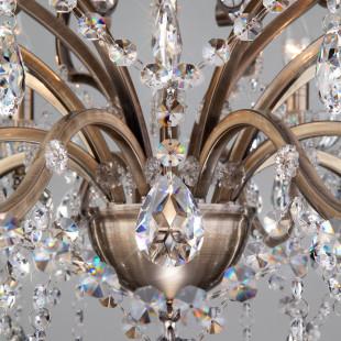 Люстра с хрусталем 3108/8 античная бронза / прозрачный хрусталь