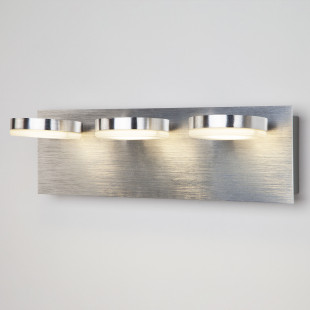 Светодиодный настенный светильник с поворотными плафонами 20004/3 алюминий