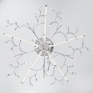 Светодиодная люстра с хрусталем 90036/5 хром