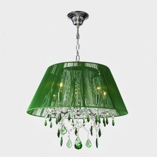 Люстра с цветным хрусталем 3125/5 хром/зелёный Strotskis