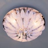 Люстра с хрусталем и пультом ДУ 80013/8 хром/белый