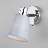 Настенный светильник с выключателем 20080/1 хром/голубой