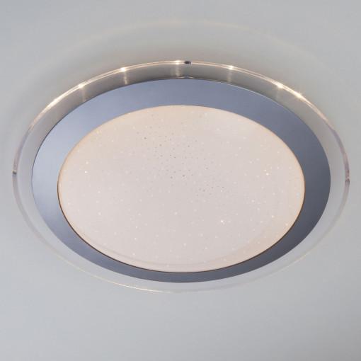 Светодиодный настенно-потолочный светильник с пультом 40002/1 LED матовое серебро