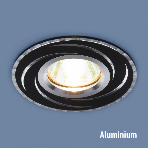 Алюминиевый точечный светильник 2002 MR16 BK/SL черный/серебро