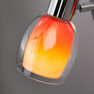 Бра с цветным плафоном 2688/1 хром/оранжевый