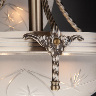 Классическая подвесная люстра 60006/6 античная бронза
