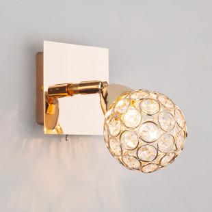Настенный светильник с хрусталем 20042/1 золото