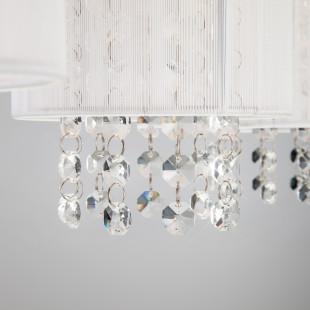Подвесной светильник с хрусталем 1188/3 хром