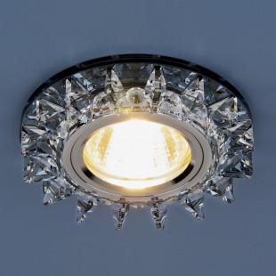 Точечный светодиодный светильник с хрусталем 6037 MR16 BL сапфир/хром