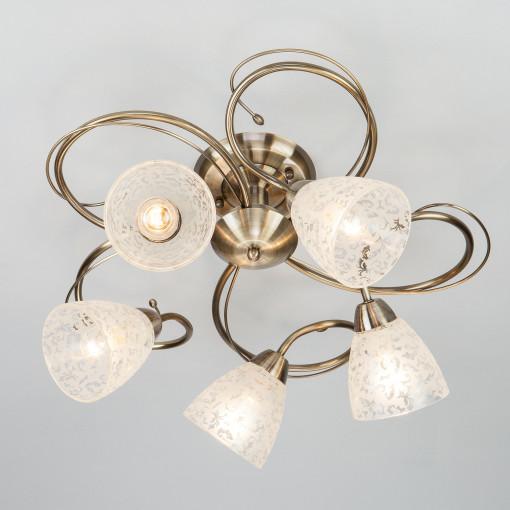Потолочный светильник 30130/5 античная бронза