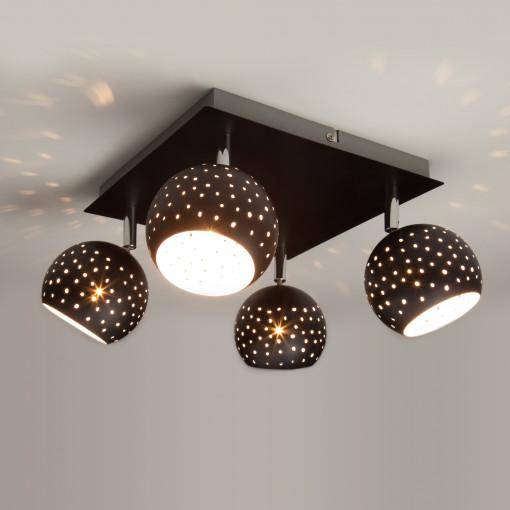 Потолочный светильник с поворотными плафонами 20059/4 черный