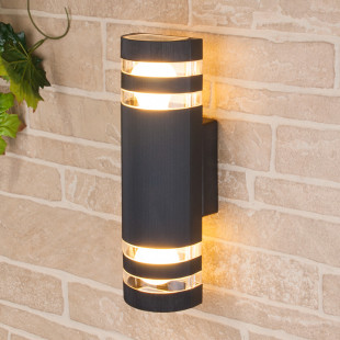 уличный настенный светильник 1443 TECHNO черный