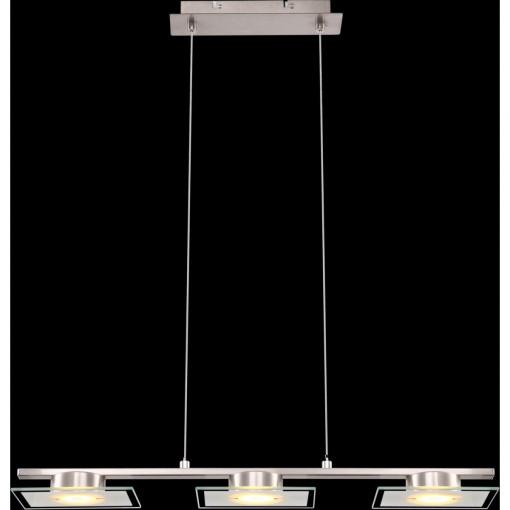 Светильник подвесной, арт. 68016-3, LED, 3x5W, матовый никель