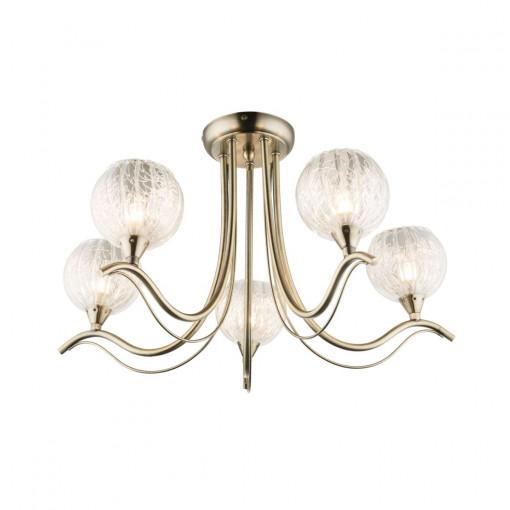 Светильник потолочный, арт. 60212-5, G9, 5x33W, бронза