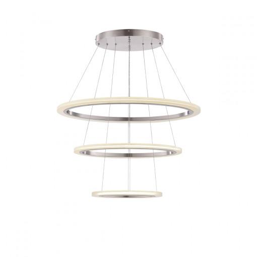 Светильник подвесной, арт. 65104-80, LED, 1x80W, матовый никель