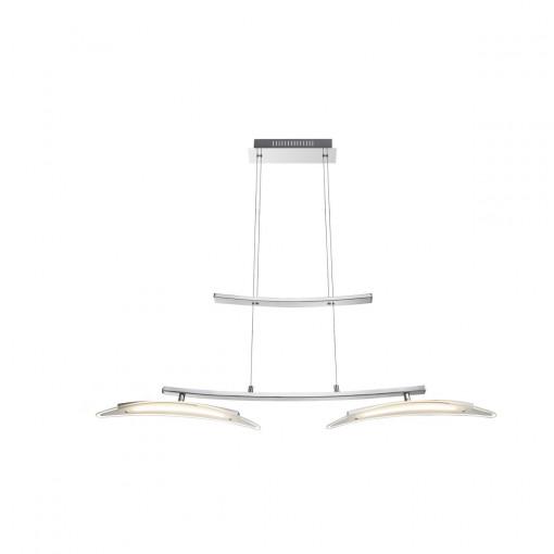 Светильник подвесной, арт. 67102-2H, LED, 2x9W, хром