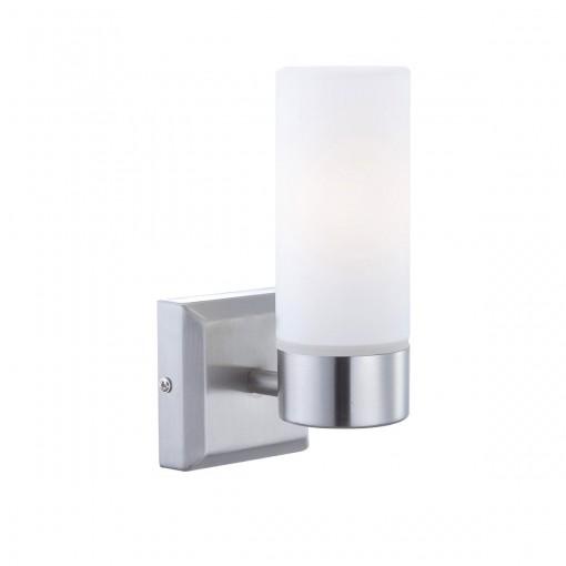 Светильник для ванной комнаты, арт. 7815, E14, 1x40W, матовый никель