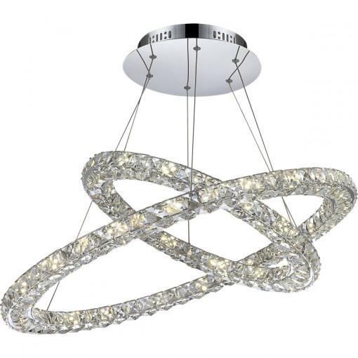 Светильник подвесной, арт. 67038-64, LED, 1x64W, хром