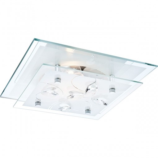 Светильник настенно-потолочный, арт. 40408, E27 ILLU, 1x60W, хром