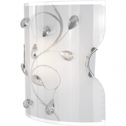 Светильник настенно-потолочный, арт. 40404W, E27 ILLU, 1x60W, матовый никель