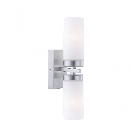 Светильник для ванной комнаты, арт. 7816, E14, 2x40W, матовый никель