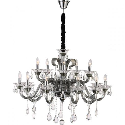 Светильник подвесной, арт. 64104-15, E14, 15x40W, хром