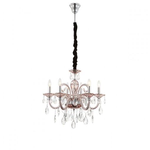 Светильник подвесной, арт. 64111-6, E14, 6x40W, хром