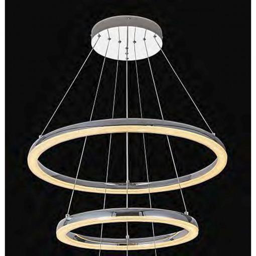 Светильник подвесной, арт. 65108-60, LED, 1x50,4W, хром