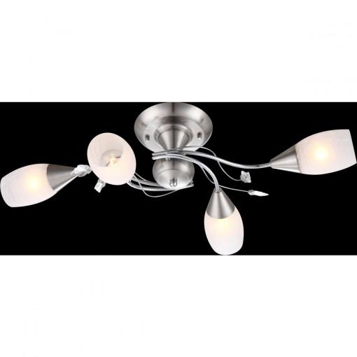 Светильник потолочный, арт. 60200-4S, E14, 4x40W, матовый никель