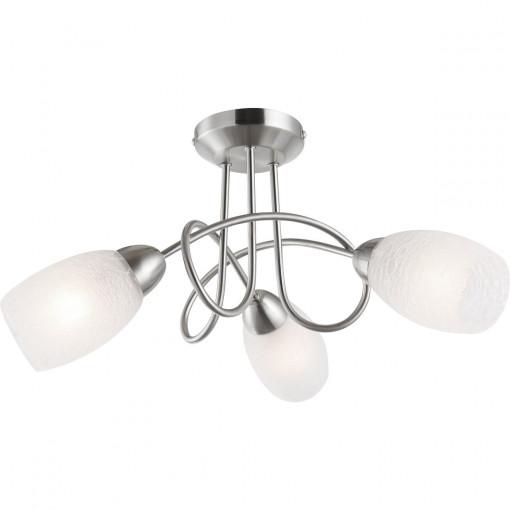 Светильник потолочный, арт. 63170-3, E14, 3x40W, матовый никель
