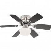 Светильник потолочный с вентилятором, арт. 0307W, E27, 1x60W, матовый никель