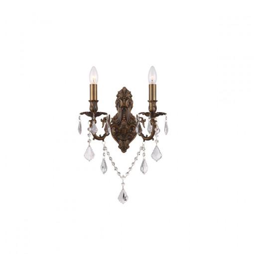 Светильник настенный, арт. 64115-2W, E14, 2x40W, бронза