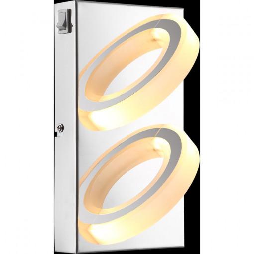 Светильник настенный, арт. 67062-2, LED, 2x5W, хром