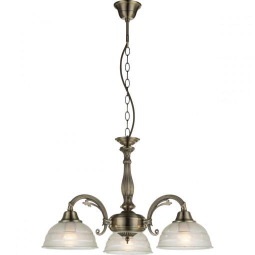 Светильник подвесной, арт. 60207-3, E27, 3x60W, античная бронза
