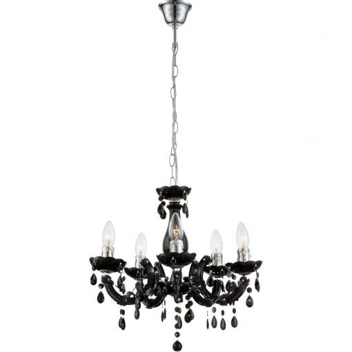 Светильник подвесной, арт. 63110-5, E14, 5x40W, черный