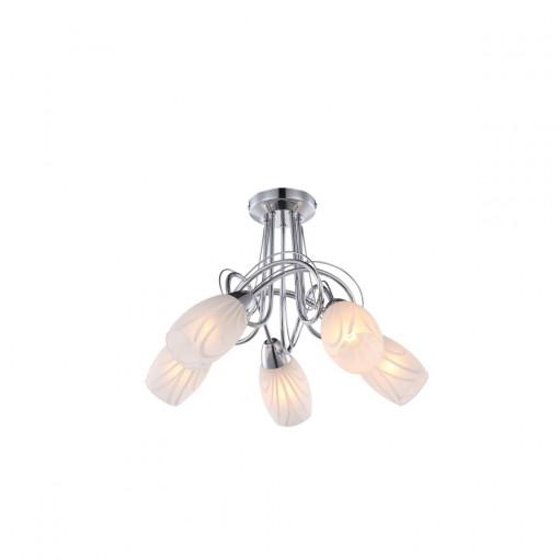 Светильник потолочный, арт. 67131-5, E14, 5x40W, хром