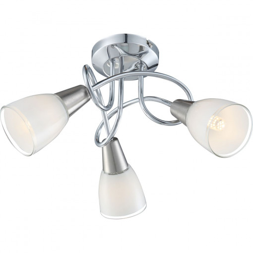 Светильник потолочный, арт. 63177-3, E14, 3x40W, хром
