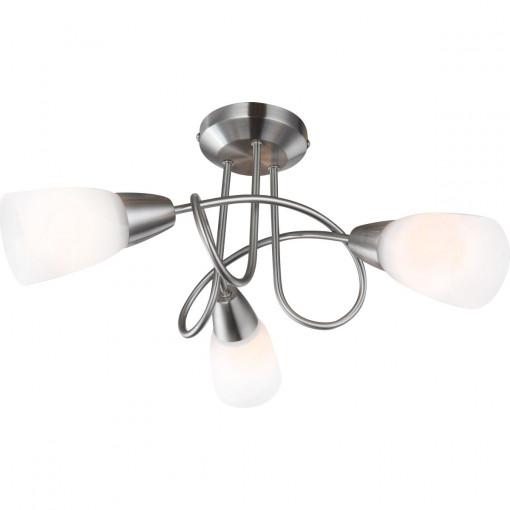 Светильник потолочный, арт. 67132-3, E14, 3x40W, матовый никель