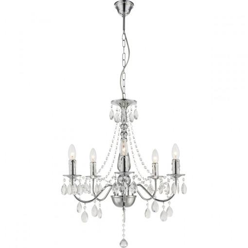 Светильник подвесной, арт. 63129-5, E14, 5x40W, хром