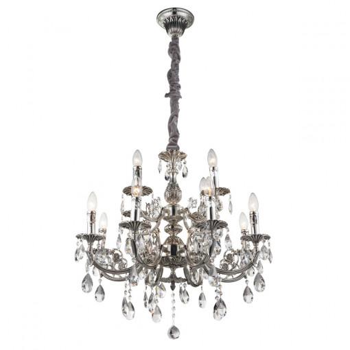 Светильник подвесной, арт. 64117-12, E14, 12x40W, серебро