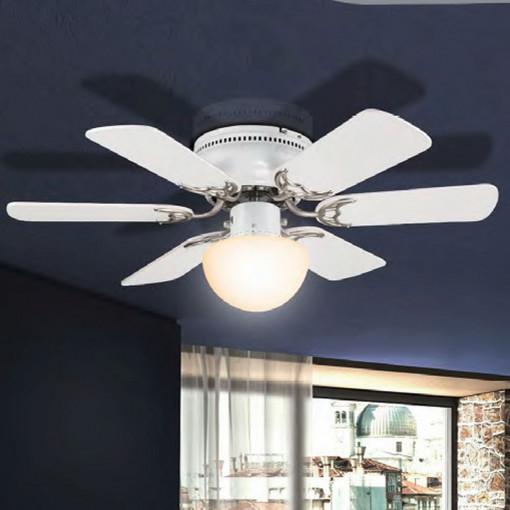 Светильник потолочный с вентилятором, арт. 3070, E27, 1x60W, белый