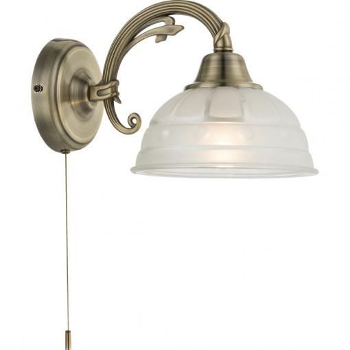 Светильник настенный, арт. 60207W, E27, 1x60W, античная бронза