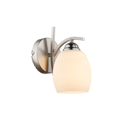 Светильник настенный, арт. 60214W, E27, 1x60W, матовый никель