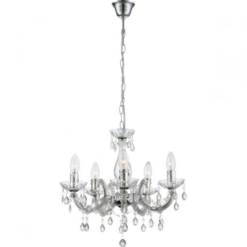 Светильник подвесной, арт. 63116-5, E14, 5x40W, хром