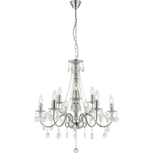 Светильник подвесной, арт. 63129-9, E14, 9x40W, хром
