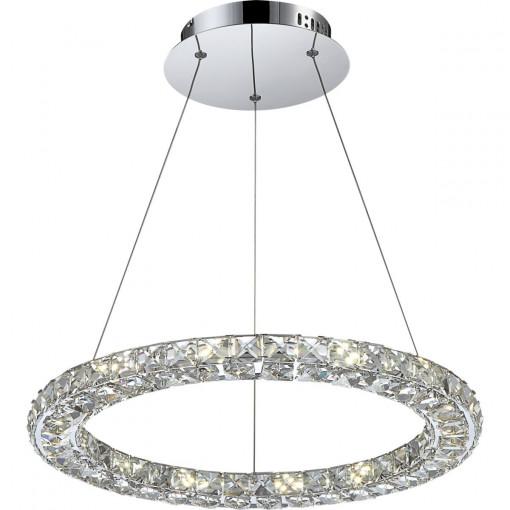 Светильник подвесной, арт. 67037-24, LED, 1x24W, хром